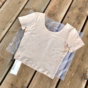 American Apparel Cotton Spandex Crop Top